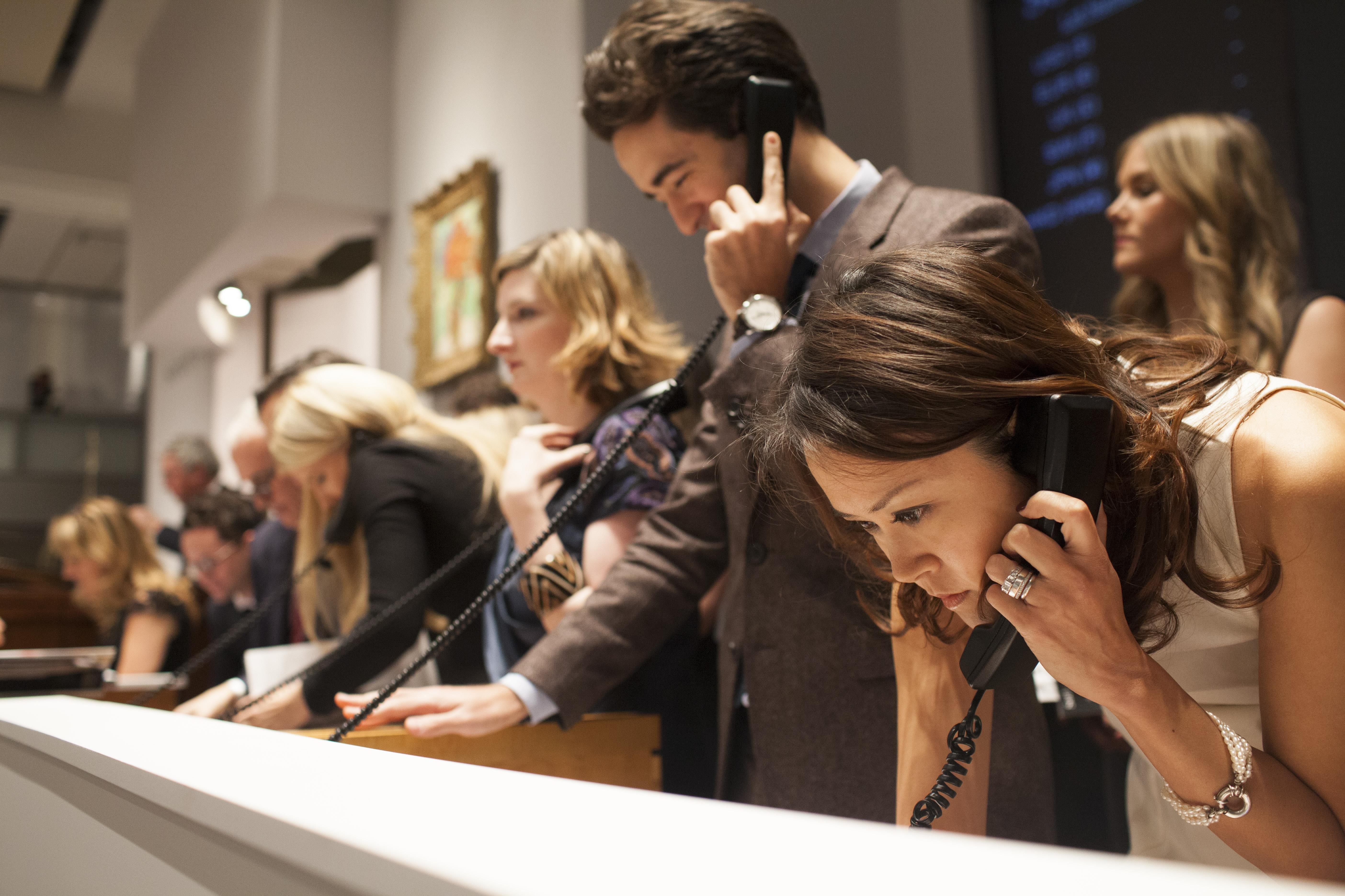 Sotheby's auction brokers in Action - Sotheby's Auction House
